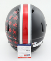 """Orlando Pace Signed Ohio State Buckeyes Full-Size Matte Black Speed Helmet Inscribed """"CHOF 13'"""" (PSA COA) at PristineAuction.com"""