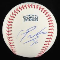Eduardo Nunez Signed 2018 World Series Logo Baseball (Beckett COA) at PristineAuction.com