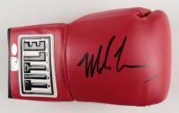 Mike Tyson Signed Title Boxing Glove (Schwartz COA & Tyson Hologram) (See Description) at PristineAuction.com