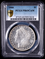1888 Morgan Silver Dollar (PCGS Proof 65 Cameo) at PristineAuction.com