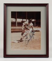 Enos Slaughter Signed 11x14 Custom Framed Photo Display (Stacks of Plaques LOA) at PristineAuction.com