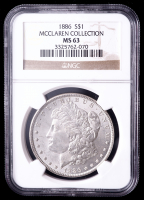 1886 Morgan Silver Dollar - McClaren Collection (NGC MS63) at PristineAuction.com