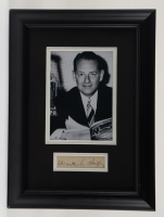 Waite Hoyt Signed 11x15 Custom Framed Cut Display (Stacks of Plaques LOA) (See Description) at PristineAuction.com