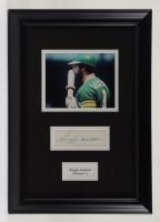 Reggie Jackson Signed 12x17 Custom Framed Cut Display (Stacks of Plaques LOA) (See Description) at PristineAuction.com