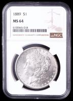 1889 Morgan Silver Dollar (NGC MS64) at PristineAuction.com