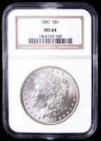 1887 Morgan Silver Dollar (NGC MS64) (Toned) at PristineAuction.com