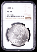 1888 Morgan Silver Dollar (NGC MS63) at PristineAuction.com