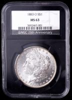 1883-O Morgan Silver Dollar - Black Core Holder (NGC MS63) at PristineAuction.com