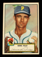 Howie Pollet 1952 Topps #63A Black at PristineAuction.com