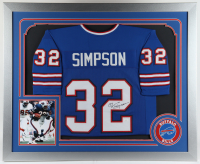 O. J. Simpson Signed 35.5x43.5 Custom Framed Jersey (JSA COA) at PristineAuction.com