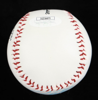 """Tommy Greene Signed OL Baseball with Display Case Inscribed """"No Hitter 5/23/91"""" (JSA COA) at PristineAuction.com"""