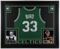 Larry Bird Signed 35.5x43.5 Custom Framed Jersey Display (Beckett COA & Bird Hologram) (See Description) at PristineAuction.com