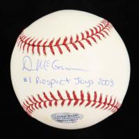 "Dustin McGowan Signed OML Baseball Inscribed ""#1 Prospect Jays 2003"" (JSA COA) at PristineAuction.com"