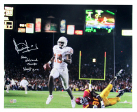 """Vince Young Signed Texas Longhorns 16x20 Photo Inscribed """"2005 National Champs"""" & """"Hook'em"""" (Beckett Hologram) at PristineAuction.com"""