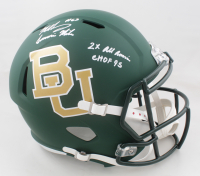 """Mike Singletary Signed Baylor Bears Full-Size Speed Helmet Inscribed """"2x All American"""" & """"CHOF 95"""" (JSA COA) at PristineAuction.com"""