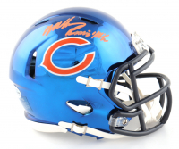 "Mike Singletary Signed Bears Chrome Alternate Speed Mini Helmet Inscribed ""Samurai Mike"" (Beckett COA) at PristineAuction.com"