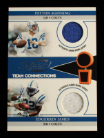Peyton Manning / Edgerrin James 2002 Playoff Piece of the Game Materials #61J JSY #368/500 at PristineAuction.com