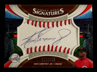 Ken Griffey Jr. 2006 Sweet Spot Signatures Red Stitch Blue Ink #138 #117/150 at PristineAuction.com