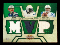 Tom Brady / LaDainian Tomlinson / Peyton Manning 2008 Topps Triple Threads Relic Combos Emerald #TTRC55 #6/9 at PristineAuction.com