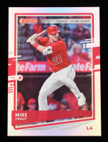 Mike Trout 2020 Donruss Season Stat Line Variations #129 #55/110 at PristineAuction.com