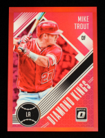 Mike Trout 2018 Donruss Optic Red #13 DK #90/99 at PristineAuction.com
