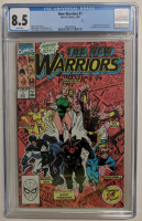 """1990 """"New Warriors"""" Issue #1 Marvel Comic Book (CGC 8.5) at PristineAuction.com"""