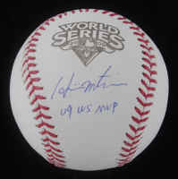 "Hideki Matsui Signed 2009 World Series Baseball Inscribed ""09 WS MVP"" (Steiner Hologram & MLB Authentication Hologram) at PristineAuction.com"