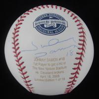 Johnny Damon Signed LE OML Yankee Stadium Logo Baseball (MLB Hologram) at PristineAuction.com