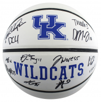 2021 Kentucky Wildcats Logo Basketball Team-Signed by (12) with John Calipari, Daimion Collins, Tyty Washington (Beckett Hologram) at PristineAuction.com
