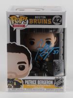 Patrice Bergeron Signed Bruins #42 Funko Pop! Vinyl Figure (Bergeron COA) at PristineAuction.com