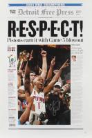 Chauncey Billups Signed Pistons 16x24 Print (JSA Hologram) (See Description) at PristineAuction.com