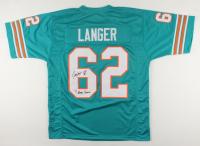 "Jim Langer Signed Jersey Inscribed ""HOF 87"" & ""'72 Perfect Season"" (JSA COA) at PristineAuction.com"