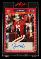 Joe Montana 2021 Leaf Pro Set Sports Autographs Red #PSAJM1A at PristineAuction.com