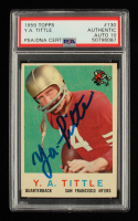 Y.A. Tittle Signed 1959 Topps #130 (PSA Encapsulated) at PristineAuction.com