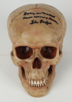 """Lisa Loring Signed Skull Prop Inscribed """"Happy Halloween"""" & """"From Wednesday Addams"""" (PSA COA) at PristineAuction.com"""