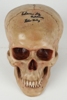 """Lisa Loring Signed Skull Prop Inscribed """"Wednesday Addams"""" (PSA COA) at PristineAuction.com"""