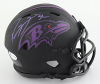 Ray Lewis Signed Ravens Eclipse Alternate Speed Mini Helmet (Beckett COA) (See Description) at PristineAuction.com