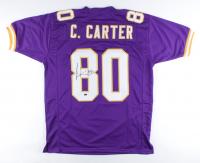Cris Carter Signed Jersey (Schwartz Sports COA) (See Description) at PristineAuction.com