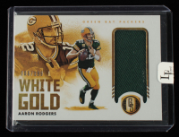 Aaron Rodgers 2021 Panini Gold Standard White Gold Materials #2 #6/199 at PristineAuction.com