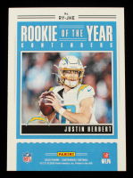 Justin Herbert 2020 Panini Contenders Rookie of the Year Contenders #14 at PristineAuction.com