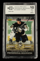 Sidney Crosby 2005-06 Upper Deck Phenomenal Beginnings #12 (BCCG 10) at PristineAuction.com