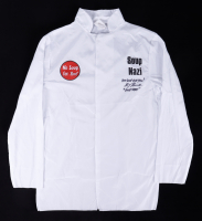 """Larry Thomas Signed """"Seinfeld"""" Chef Shirt Inscribed """"No Soup For You!"""" & """"Soup Nazi"""" (PSA Hologram) at PristineAuction.com"""