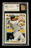 Mark McGwire 1991 Upper Deck #656 with Game-Used Bat Piece (BCCG 10) at PristineAuction.com