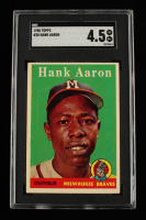 Hank Aaron 1958 Topps #30A (SGC 4.5) at PristineAuction.com