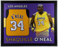 Shaquille O'Neal Signed 35.5x43.5 Custom Framed Jersey (Beckett Hologram) (See Description) at PristineAuction.com
