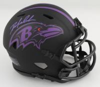 Odafe Oweh Signed Ravens Eclipse Alternate Speed Mini Helmet (JSA COA) at PristineAuction.com