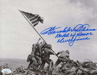 """Hershel W. Williams Signed 8x10 Photo Inscribed """"Medal of Honor and Iwo Jima"""" (JSA COA) at PristineAuction.com"""