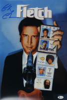 """Chevy Chase Signed """"Fletch"""" 12x18 Photo (Beckett COA) at PristineAuction.com"""