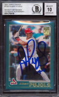 """Albert Pujols Signed 2001 Topps Traded #T247 RC Inscribed """"ROY - 01"""" (BGS Encapsulated) at PristineAuction.com"""