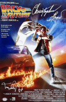 """Michael J. Fox & Christopher Lloyd Signed """"Back to the Future"""" 11x17 Movie Poster (PSA COA & Beckett COA) at PristineAuction.com"""